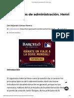14 Principios de Administración. Henri Fayol