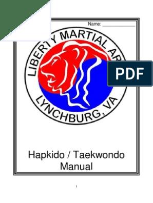 LMA Taekwondo Hapkido Manual | Combat Sports | Sports