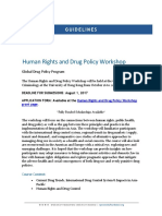 Human Rights and Drug Policy Workshop Hong Kong Guidelines