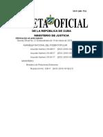 Gaceta Oficial de la República de Cuba 21 2018