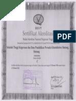 Sertifikat Akreditasi STKIP Persada Khatulistiwa.pdf