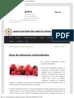 Guía de Alimentos Antioxidantes - Oncologia IntegrativaOncologia Integrativa