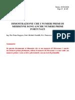 DIMOSTRAZIONE CHE I NUMERI PRIMI DI MERSENNE SONO ANCHE NUMERI PRIMI FORTUNATI (Ing. Pier Franz Roggero, Dott. Michele Nardelli, P.A. Francesco Di Noto)