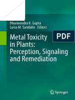 Metal Toxicity in Plants Perception, Signaling and Remediation