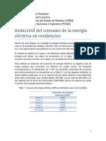 Reduccion Del Consumo de La Energia Electrica en Residencias