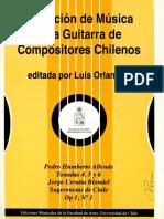 Coleccion de Musica Para Guitarra de Compositores Chilenos Vol.1