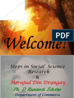 Steps in Social  Science Research