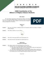 2008 AFICS Constitution