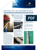 Mooring Line Care Maintenance