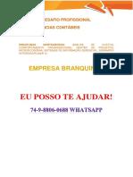 Anhanguera Contabéis 3 e 4 Branquinha