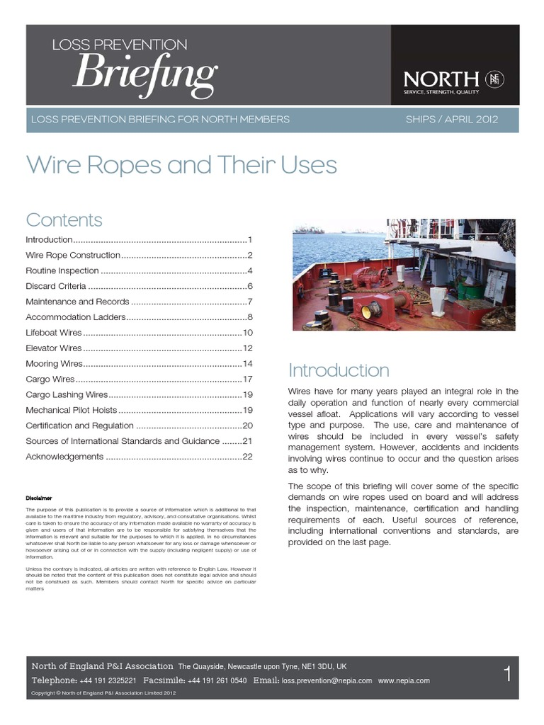 Wire Ropes Rope Wiring Numbering Convention