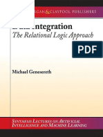 [Synthesis Lectures on Artificial Intelligence and Machine Learning] Michael Genesereth - Data Integration_ The Relational Logic Approach (2010, Morgan and Claypool Publishers).pdf