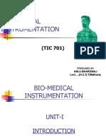 BIOMEDICAL INSTRUMENTATION(TIC-801)