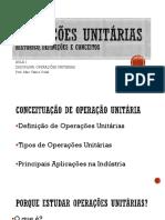 AULA operações unitárias