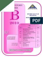 Form b 2010 Explanatory Notes
