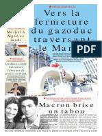Journal Le Soir Dalgerie Du 15.09.2018