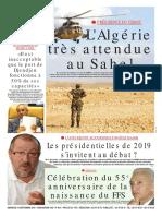 Journal Le Soir d Algerie Du 16.09.2018