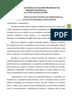 Contributo de Antônio Barreto - Cebrapaz - Reunião Região América do CMP 2018