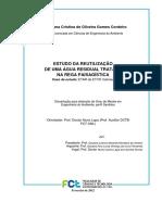 ESTUDO DA REUTILIZAÇÃO DE UMA ÁGUA RESIDUAL TRATADA NA REGA PAISAGÍSTICA Caso de estudo