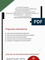 1.1.3.3. Locuciones Latinas (Latinismos)
