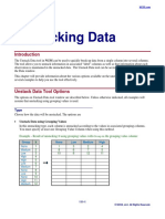 Unstacking Data