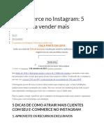 Ecommerce No Instagram