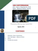 AGUAS SUBTERRANEAS - CICLO HIDROLOGICO - AFORO 1ra-2da Clase.pptx