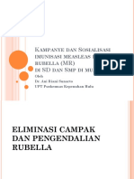Kampanye Dan Sosialisasi Imunisasi Measleas Dan Rubella (