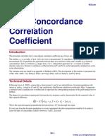 Lin's Concordance Correlation Coefficient