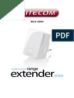 Manual Wifi Extender WLX-2003 [English]