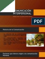 Comunicación Interpersonal Clase 1