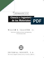 Introduccion a La Ciencia e Ingenieria de Los Materiales - C