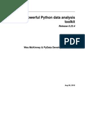 pandas pdf | Method (Computer Programming) | Parameter