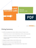 Sociable Labs - Pricing Presentation