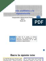 1A-ZZ03 El Texto Académico Argumentativo (Diapositivas) 2017-3