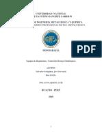 Monografia de Equipos de Regulacion y Control en Hornos Metalurgicos
