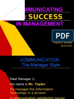 Communicating for Success in Management