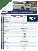 Ficha Técnica Subaru All New Impreza