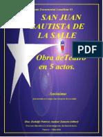 Anónimo - San Juan Bautista de La Salle- Obra de Teatro en Cinco Actos (2° versión)