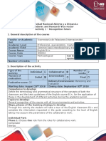 Activity Guide and Evaluation Rubric – Activity 1 - Recognition Task