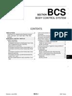 Control Carroceria Nissan Versa BCS BCM