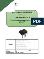 Lab 6 - Operaciones Con Opamp