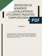 2.4 Obtencion de Numeros Pseudoaleatorios Utilizando Paquetes Computacionales