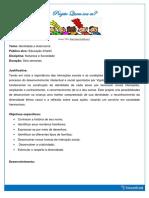 Projeto Quem Sou Eu Para Educação Infantil Em PDF
