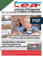 Periódico Lea Lunes 17 de Septiembre Del 2018
