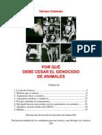 Vernon Coleman - Por que debe cesar el genocidio en animales.pdf