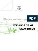 Evaluación de Los Aprendizajes