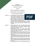 Peraturan Menteri Pendidikan Nasionalnomor 63 Tahun 2009tentangsistem Penjaminan Mutu Pendidikan