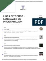 Linea de Tiempo Lenguajes de Programación