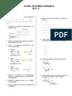 Examen Final de Química Organica 2013 II
